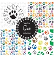 Pattern with cat paw vector image vector image
