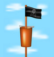 pirate flag with a basket and a spyglass vector image vector image