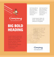 santa clause business company poster template vector image