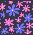 seamless flower pattern textile pattern floral vector image vector image