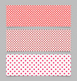 seamless heart pattern banner background design vector image vector image
