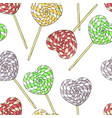 seamless pattern of different desserts lollipops vector image vector image