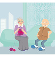 Senior couple resting at home vector image vector image
