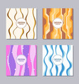Set of 4 creative cover templates