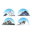 set of hill and nature elements snow vector image