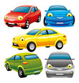 set of toy cars vector image