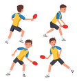 table tennis male player in action twists vector image vector image