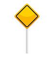 traffic signal diamond icon vector image vector image