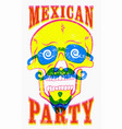 typographic retro grunge mexican party poster vector image