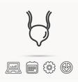 urinary bladder icon human body organ sign vector image vector image