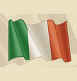 vintage flag italy vector image
