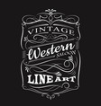 vintage label typography t-shirt design vector image vector image