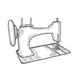 vintage sewing machine vector image vector image
