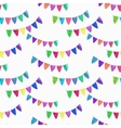 Watercolor seamless pattern with garlands on the vector image