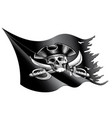waving and torn pirate fag vector image vector image