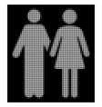 white halftone married couple icon vector image