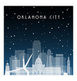 winter night in oklahoma city night city vector image vector image