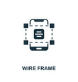 wire frame icon simple element from app vector image vector image