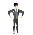 young asian angry groom screaming vector image vector image