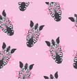 zebra pattern kid safari print vector image