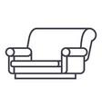 sofa isometric line icon sign vector image