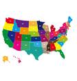 Color USA map vector image