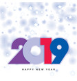 2019 happy new year design vector image vector image