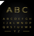 3d effect font or alphabet letter set vector image