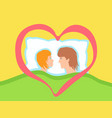 a couple of lovers together in bed vector image