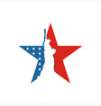 America USA logo Liberty Star icon vector image vector image