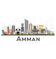 amman jordan city skyline with color buildings
