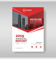 annual report cover template with red geometric vector image vector image