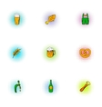 Beer icons set pop-art style vector image vector image