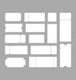 big set ticket templates concert ticket coupon vector image vector image