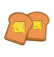 bread slices with butter food related image vector image