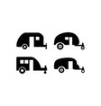 camping trailer icon design template isolated vector image vector image