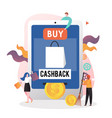 Cashback concept for web banner website