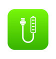 charger icon digital green vector image vector image