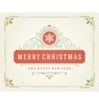 Christmas retro typographic and flourishes vector image
