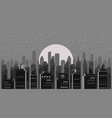 cityscape night modern city skyline panoramic vector image vector image