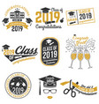 class of 2019 badge vector image
