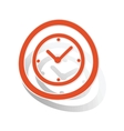 Clock sign sticker orange vector image vector image