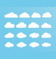 cloud abstract white cloudy set isolated on vector image