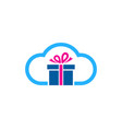 cloud gift logo icon design vector image