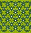 clover leaves seamless pattern green shamrock vector image vector image