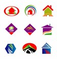 Collection of Real estate logo vector image vector image