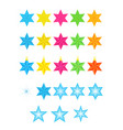 colored stars set vector image