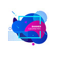 creative geometric banner template colorful blue vector image
