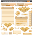 creative web elements royal set vector image vector image