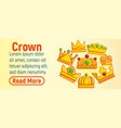 crown concept banner cartoon style vector image vector image